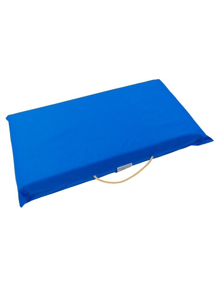 K & N Schurwolle Komfort-Kissen 2 in 1, blau