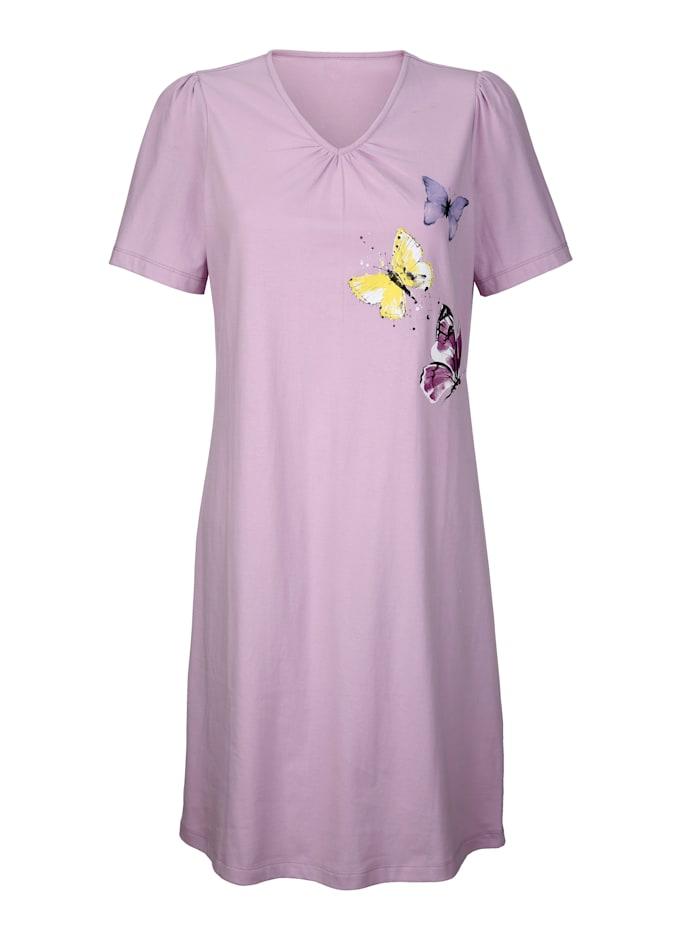 Chemises de nuit par lot de 2 de ligne sobre à joli imprimé floral