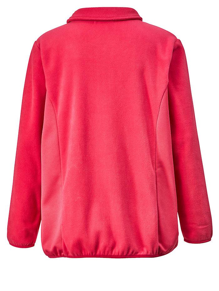 Fleece vest met inzetten opzij