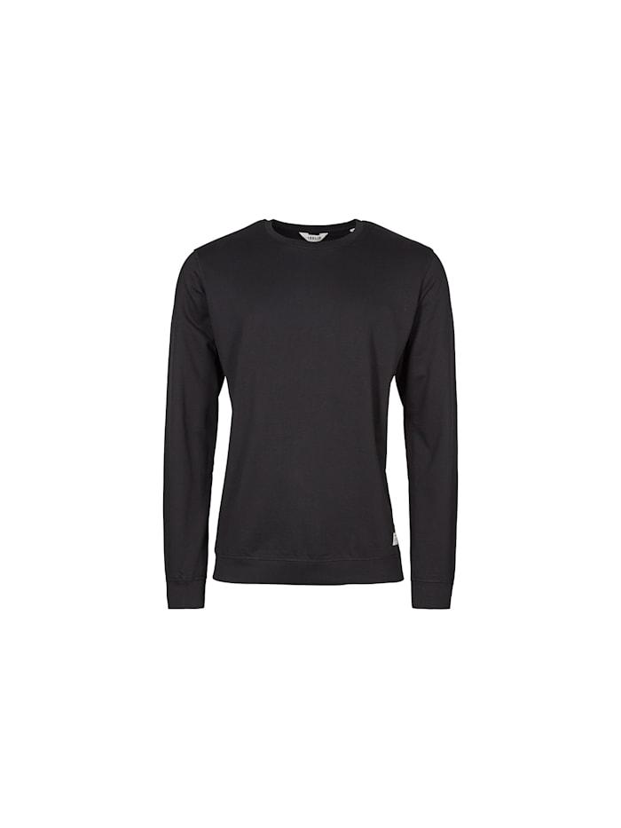 Solid Langarmshirt Garon mit klassischem Rundhals, BLACK