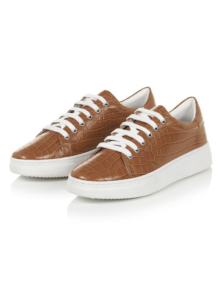 REKEN MAAR Sneaker, Cognac