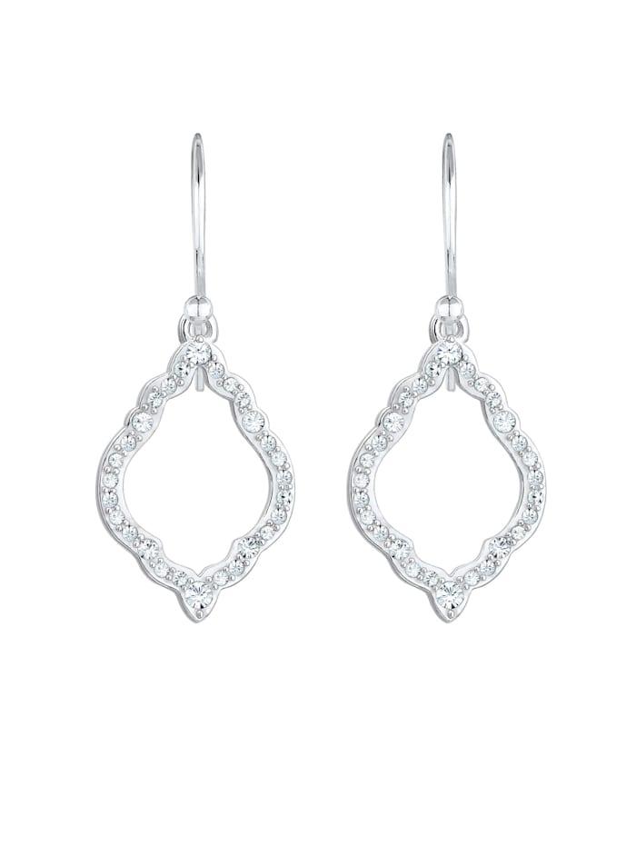 Ohrringe Hänger Ornament Kristalle 925 Silber