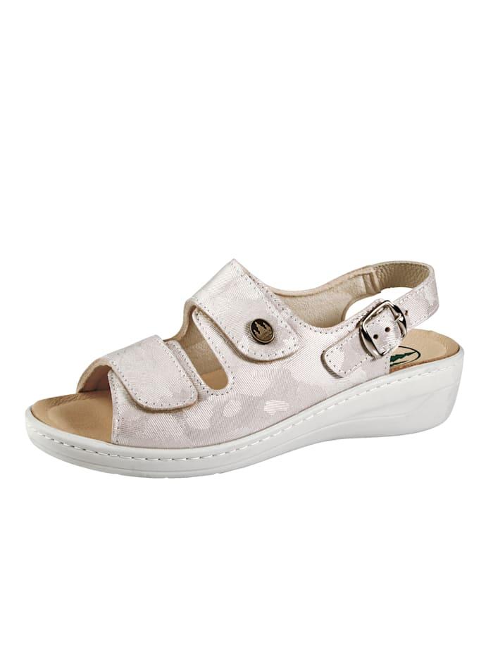 Franken Schuhe Sandale ideal geeignet bei Hallux Valgus, Rosé