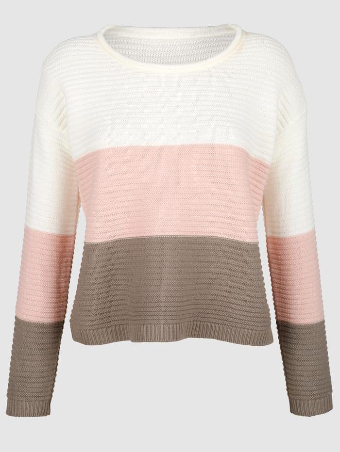 Kort tröja i sorbetfärger