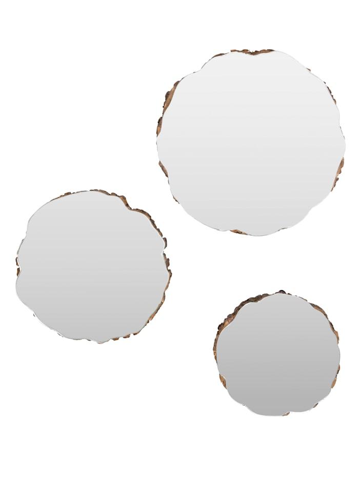 Wand-Deko-Set, 3-tlg., Spiegel