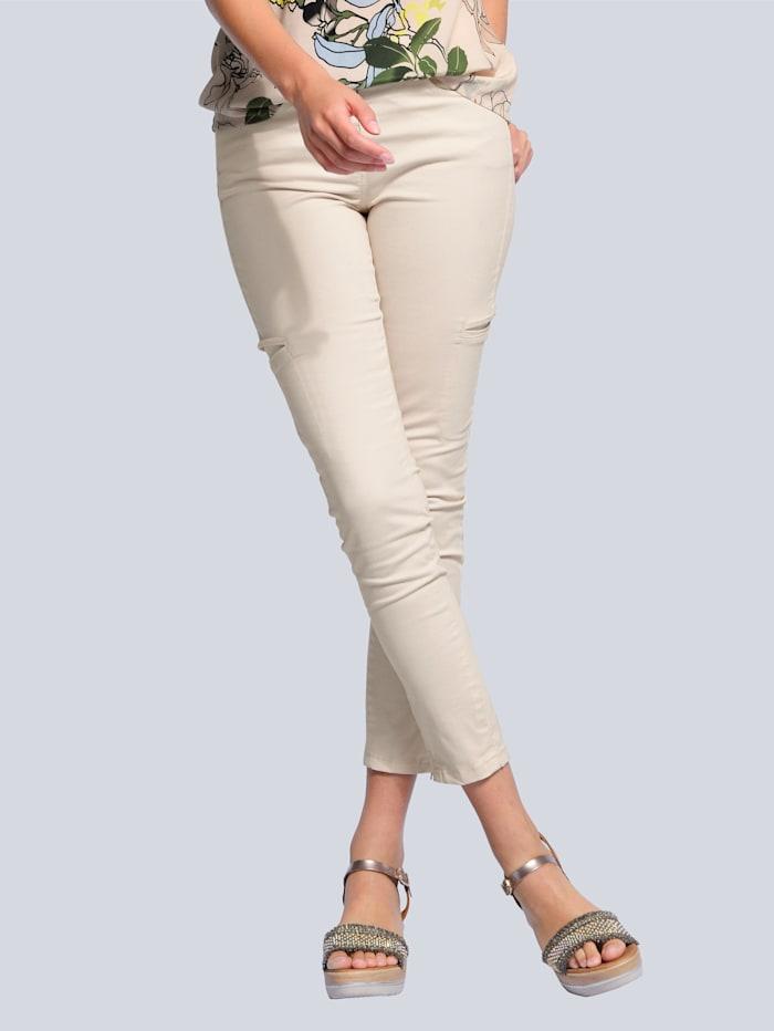 Alba Moda Hose mit seitlichen Taschen, Sand