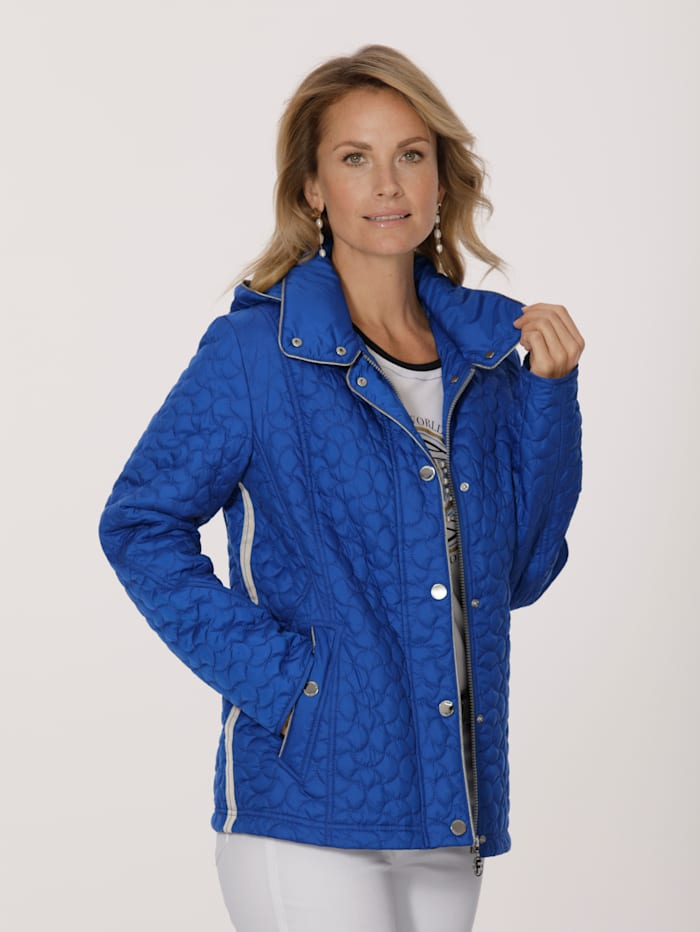 MONA Quilted jacket with contrast detailing, Royal Blue