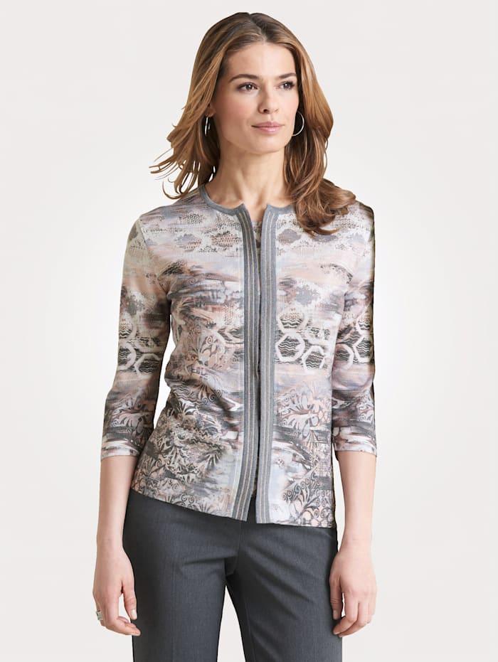 DiStrick Pullover 2-in-1 Pullover, Grau/Lachs