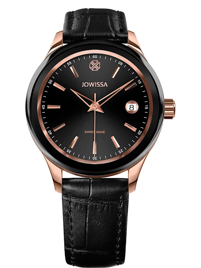 Jowissa Quarzuhr Tiro Swiss Made Watch, schwarz