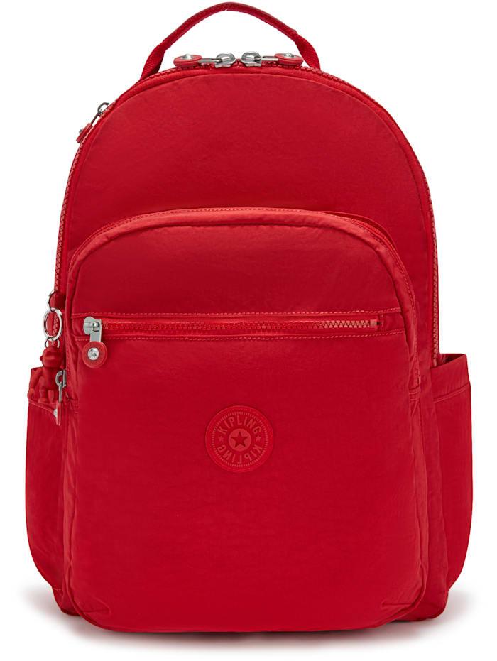 Kipling Basic Seoul Rucksack 44 cm Laptopfach, red rouge