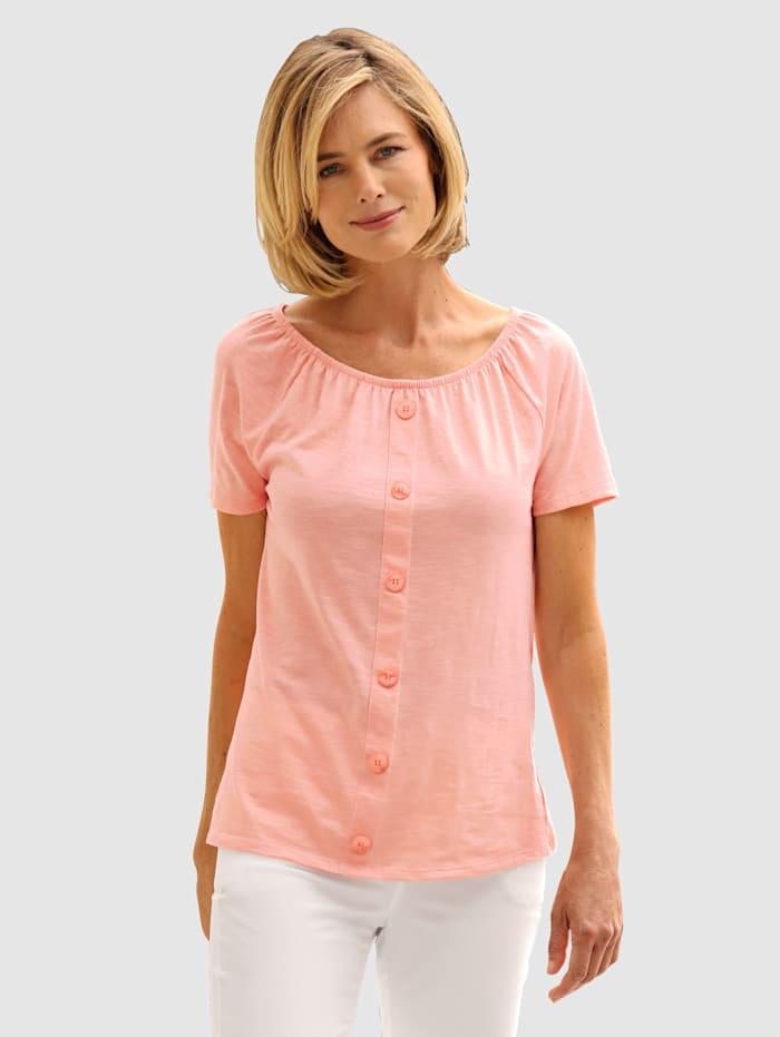 Dress In T-shirt à encolure Carmen, Pêche