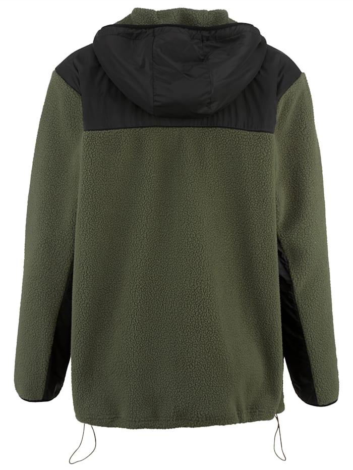 Flísová bunda s kapucňou