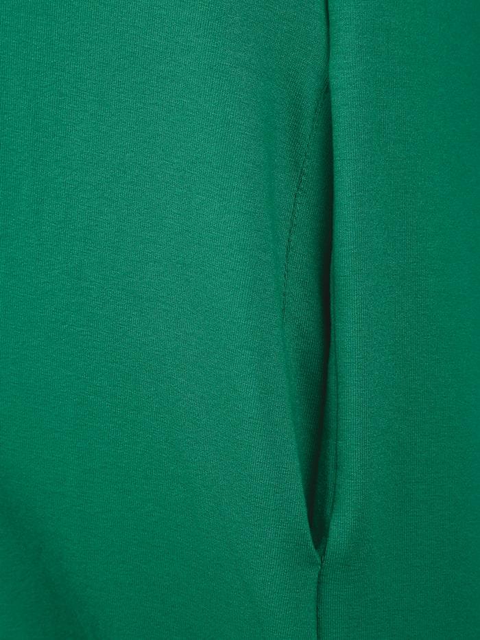 Longshirt Am Ausschnitt mit Öse und dekorativen Bändern zum Binden