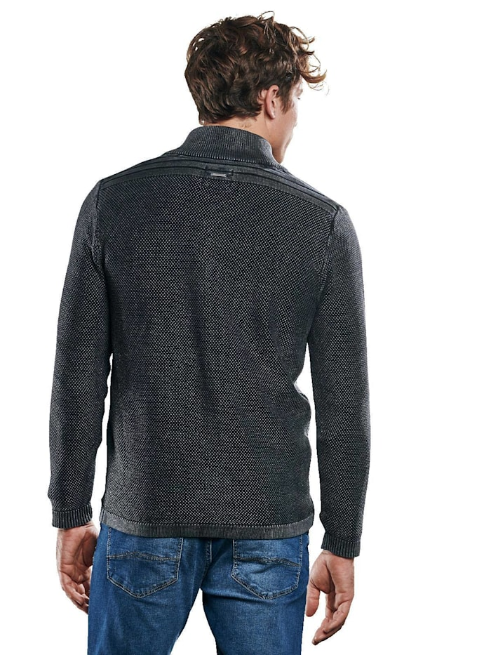 Pullover mit griffiger Reiskornstruktur