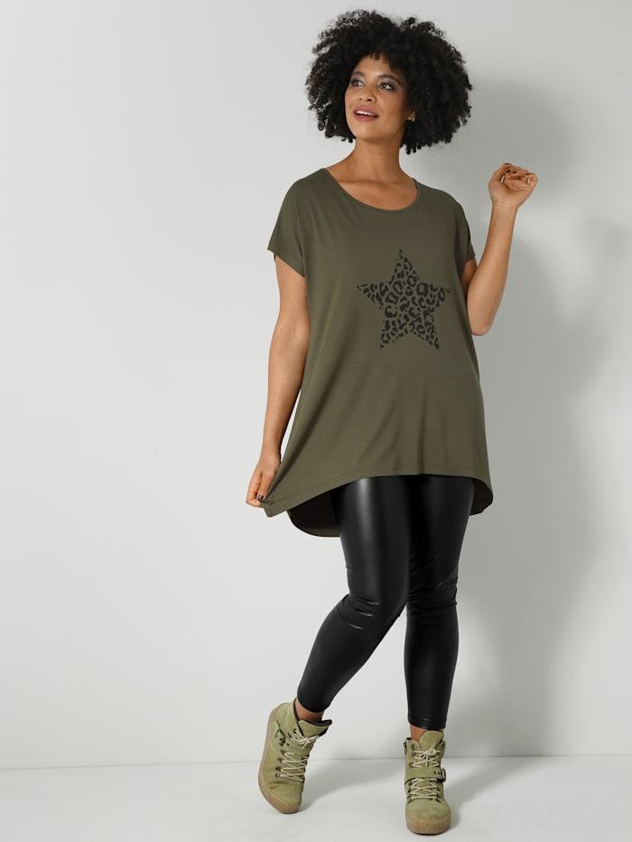 Shirt in kaschierender Vokuhila-Form