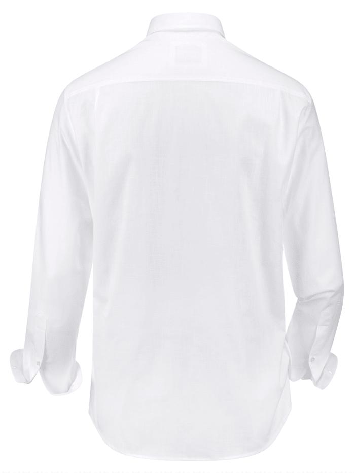 Chemise en lin à effet stretch
