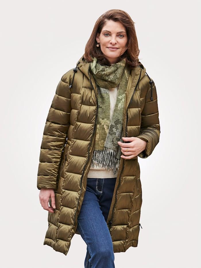 MONA Manteau matelassé avec capuche fermant haut, Olive