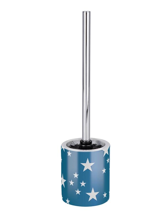 Wenko WC-Garnitur Stella Blue, Keramik, Blau - Dunkelblau