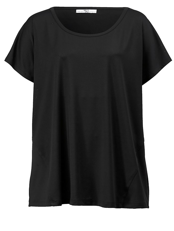 Janet & Joyce Funktions-Shirt im sportiven Style, Schwarz