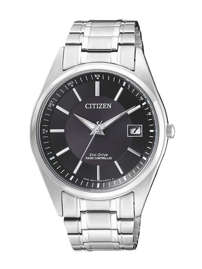 Citizen Herren-Funkuhr, Eco-Drive AS2050-87E, Silberfarben