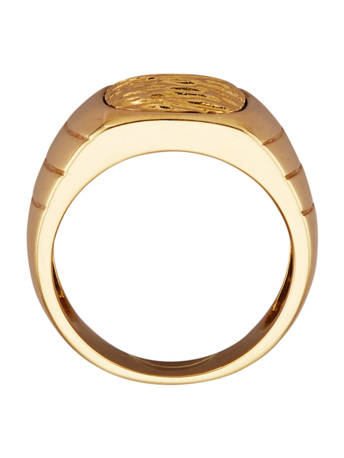 Bague homme en argent 925, plaqué or