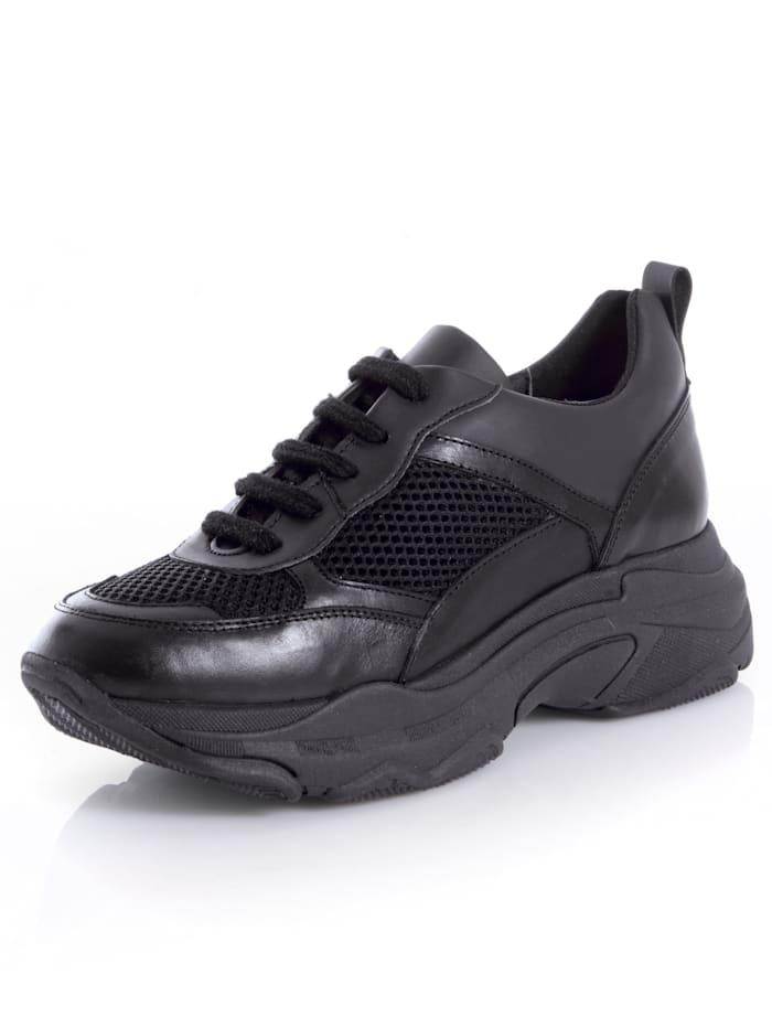 Alba Moda Sneaker in sportiver Form, Schwarz