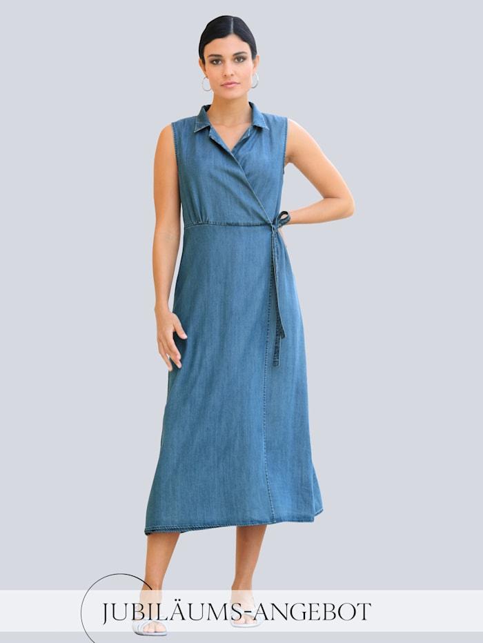 Alba Moda Kleid in Wickel-Optik, Blue bleached