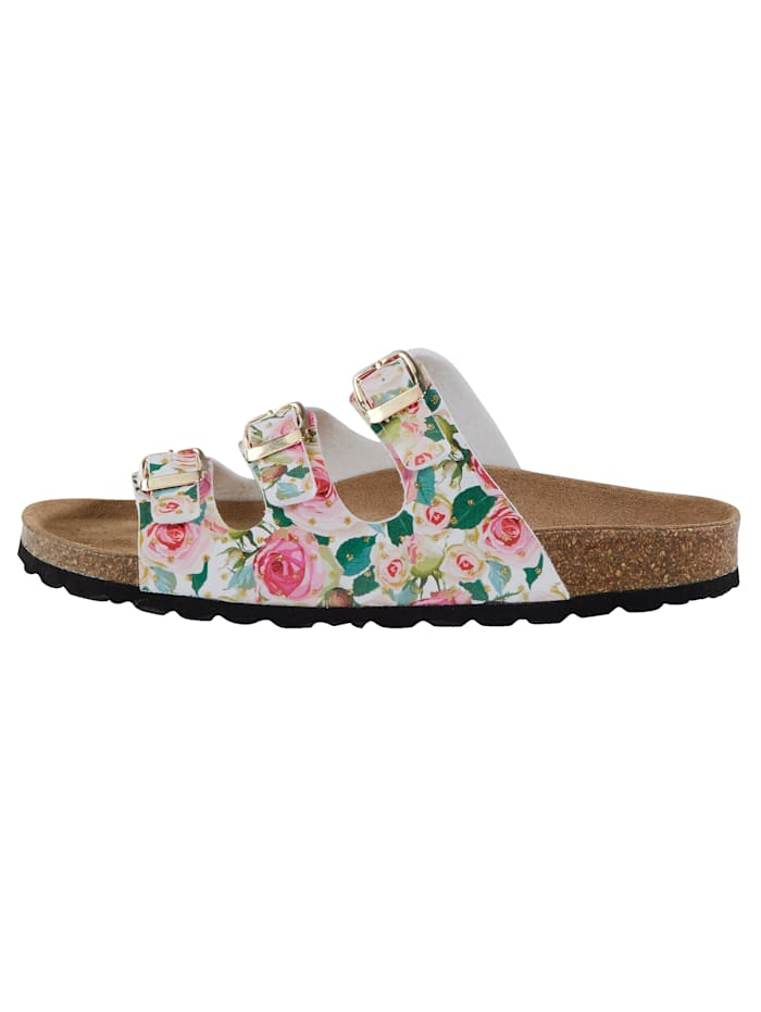 Mules with a gorgeous floral print