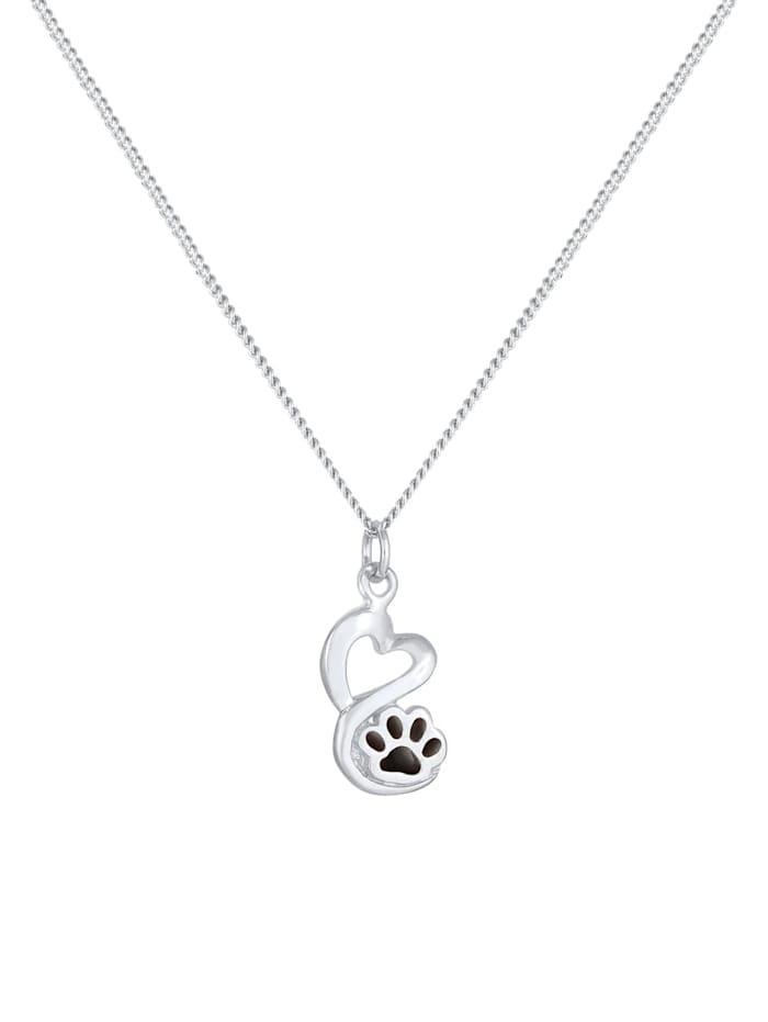 Halskette Pfote Hund Katze Anhänger Emaille 925 Silber