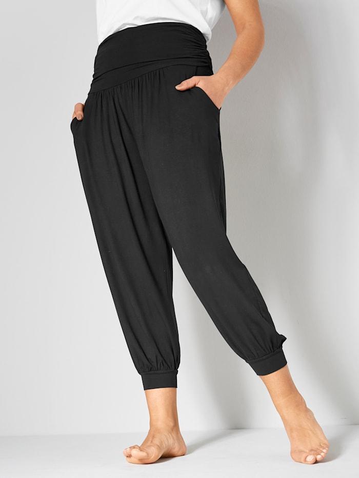 Janet & Joyce Jersey broek in 7/8-lengte, Zwart