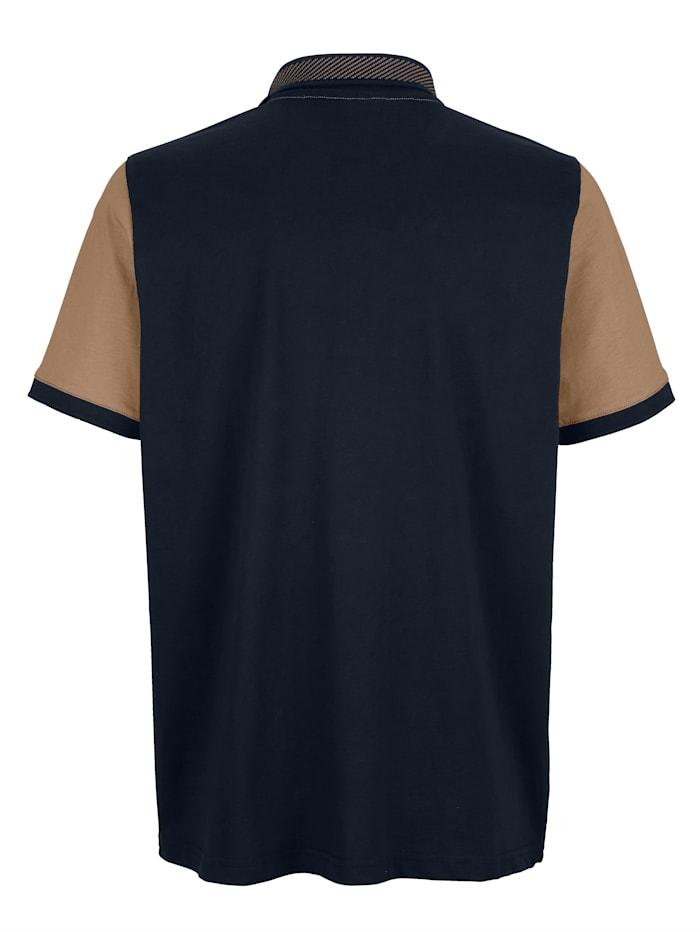 Poloshirt mit Jacquard-Polokragen
