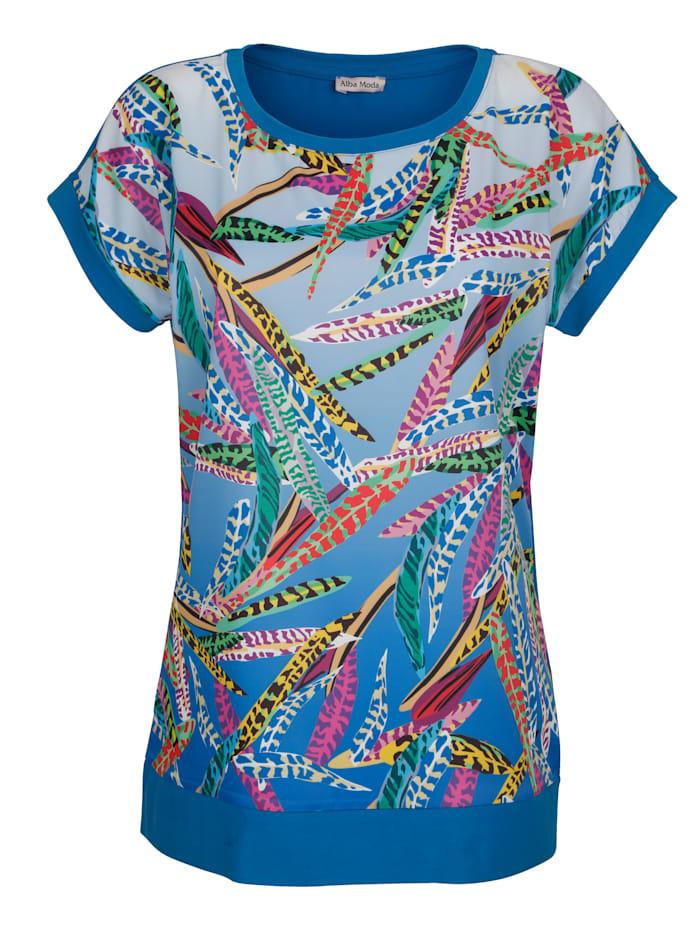 Strandshirt van een materialenmix