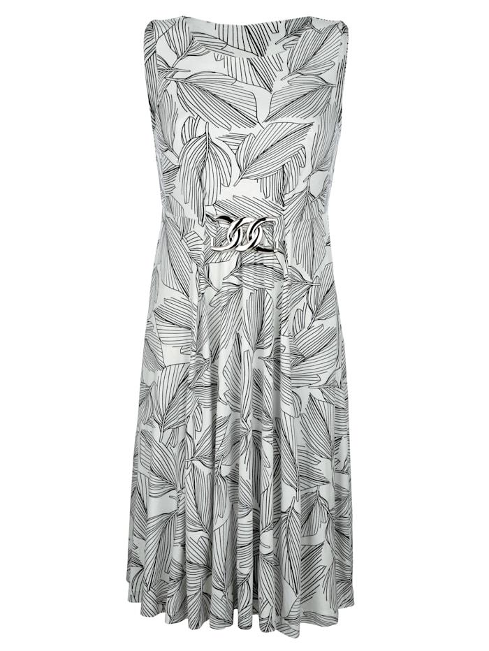 Alba Moda Jurk met zilverkleurig sierelement, Wit