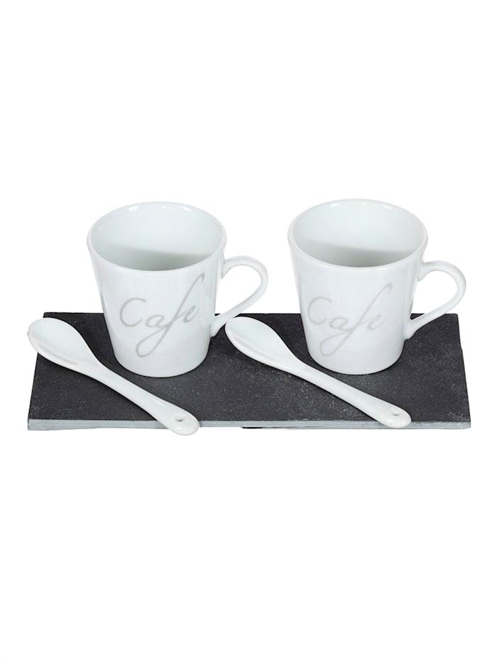 Creativ Deco Kaffeset, Schwarz/Weiß