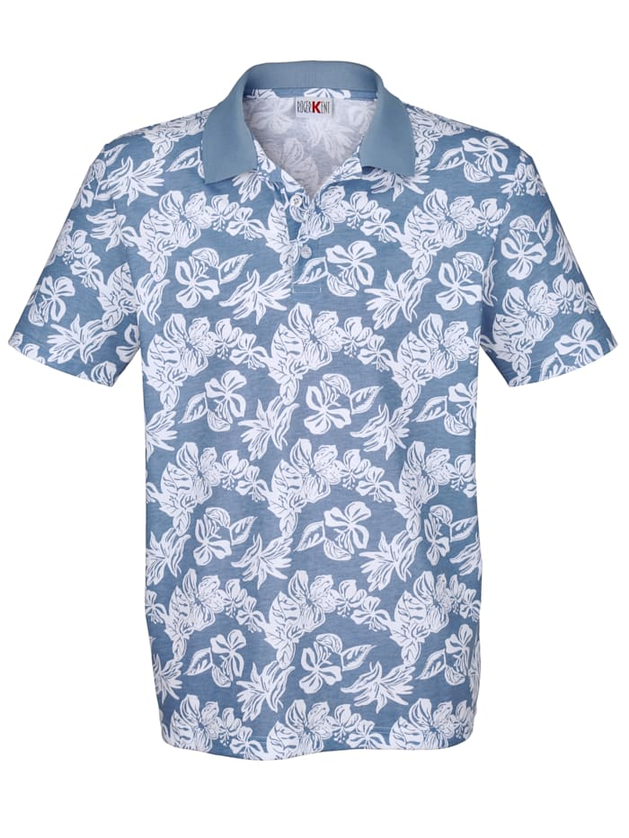Poloshirt met bloemendessin