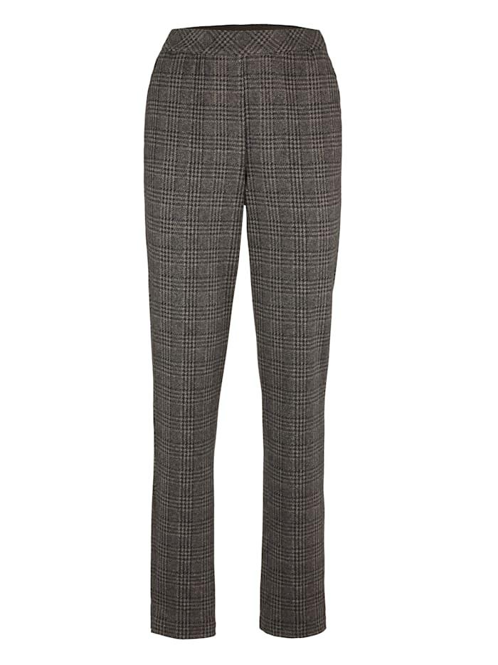 Pantalon en jersey à motif de carreaux