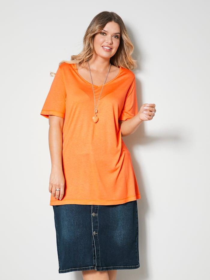 Janet & Joyce Shirt aus reiner Viskose, Orange