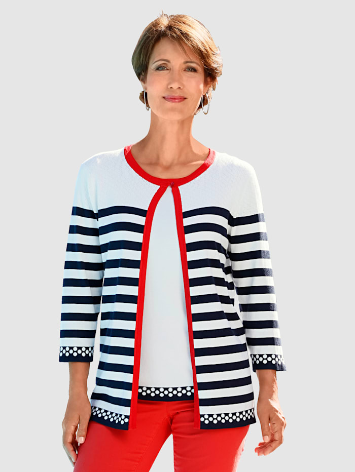 Paola Cardigansett i forseggjort stil, Marine