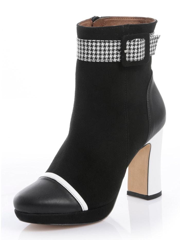 Alba Moda Stiefelette in verschiedenen Optiken, Schwarz/Weiß