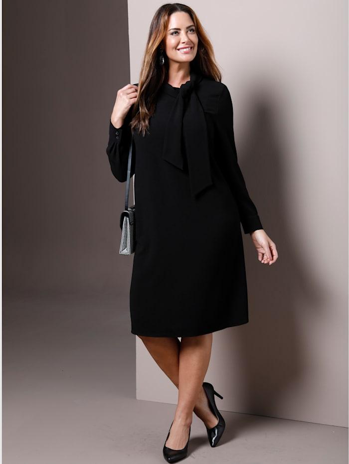 MIAMODA Kleid in elegant gerader Form, Schwarz