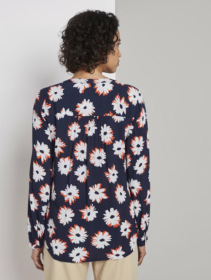 Langarmbluse mit Blumenmuster