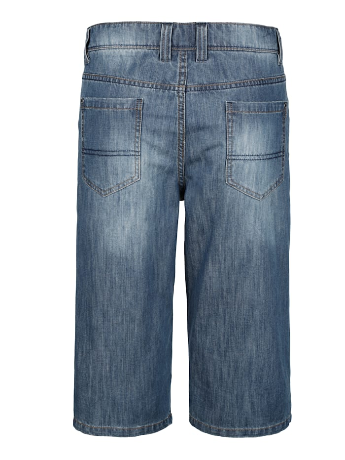 Jeansbermuda mit extra Tasche