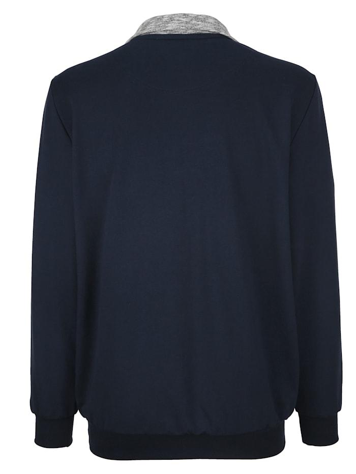Sweatshirt med kontrasterande infällning