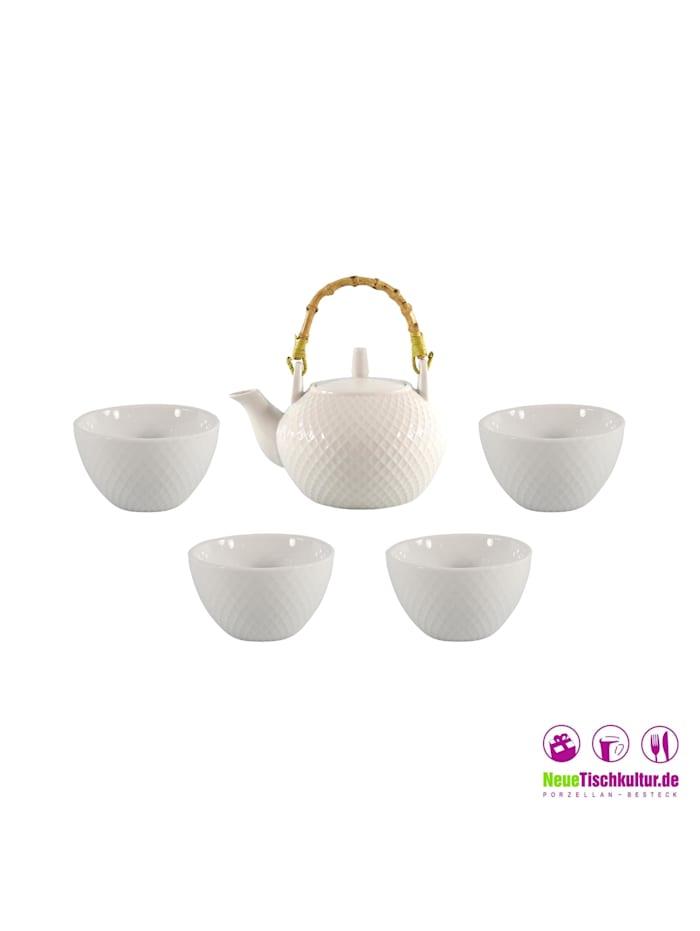 Teekanne Porzellan mit 4 Tassen