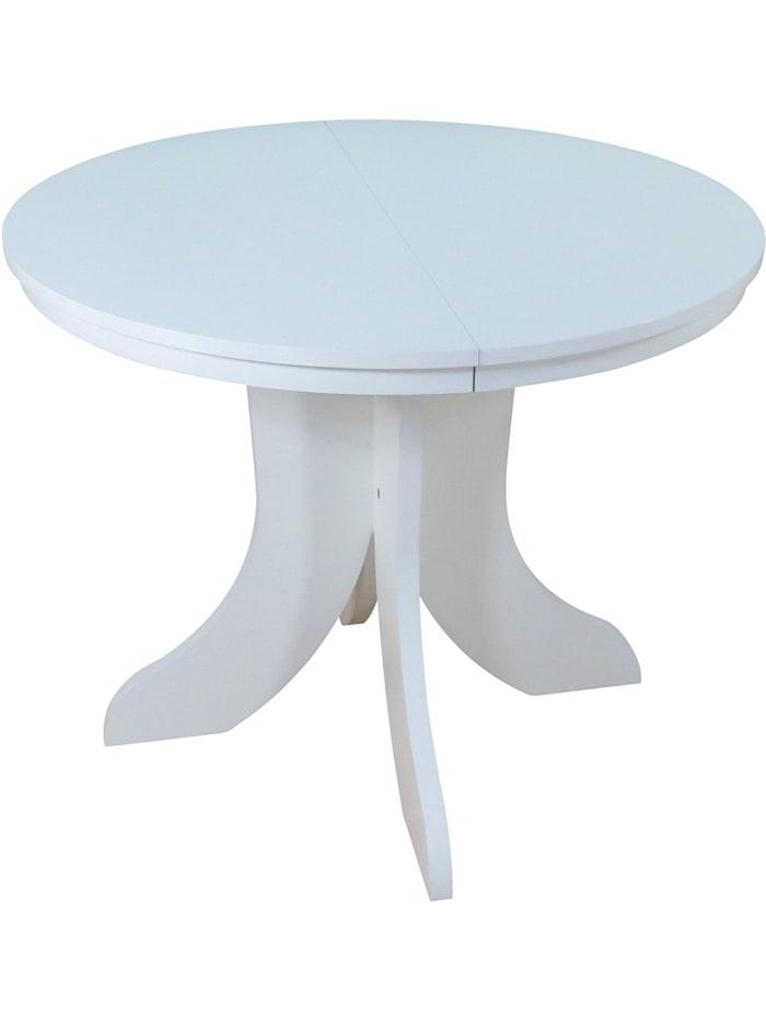 Möbel-Direkt-Online Esstisch 90-130 cm Anton, weiß