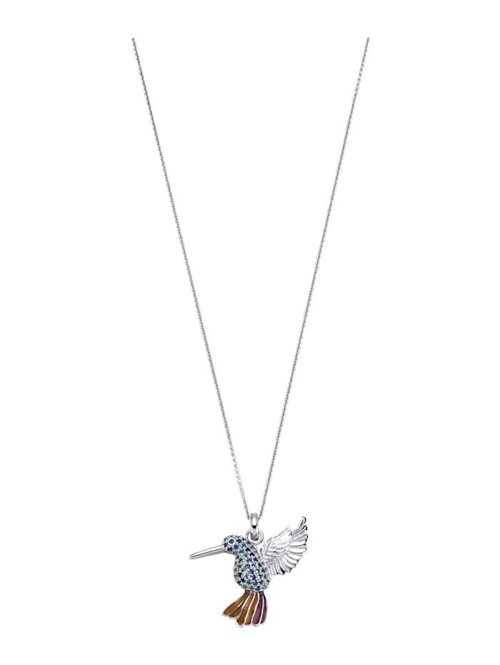 Hanger Kolibri met ketting, Multicolor
