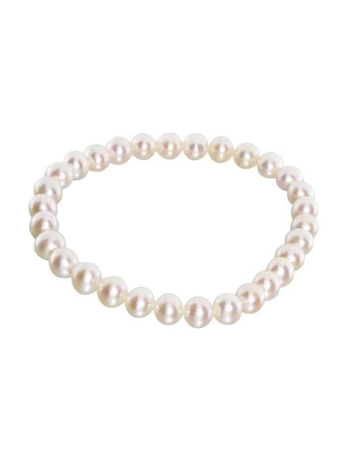 OSTSEE-SCHMUCK Armband - Ingrid 6 - Perlen -, weiß