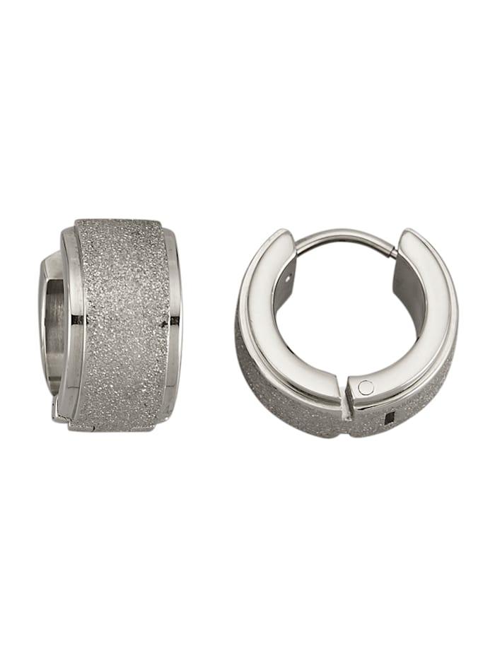 Creolen van titanium, Zilverkleur