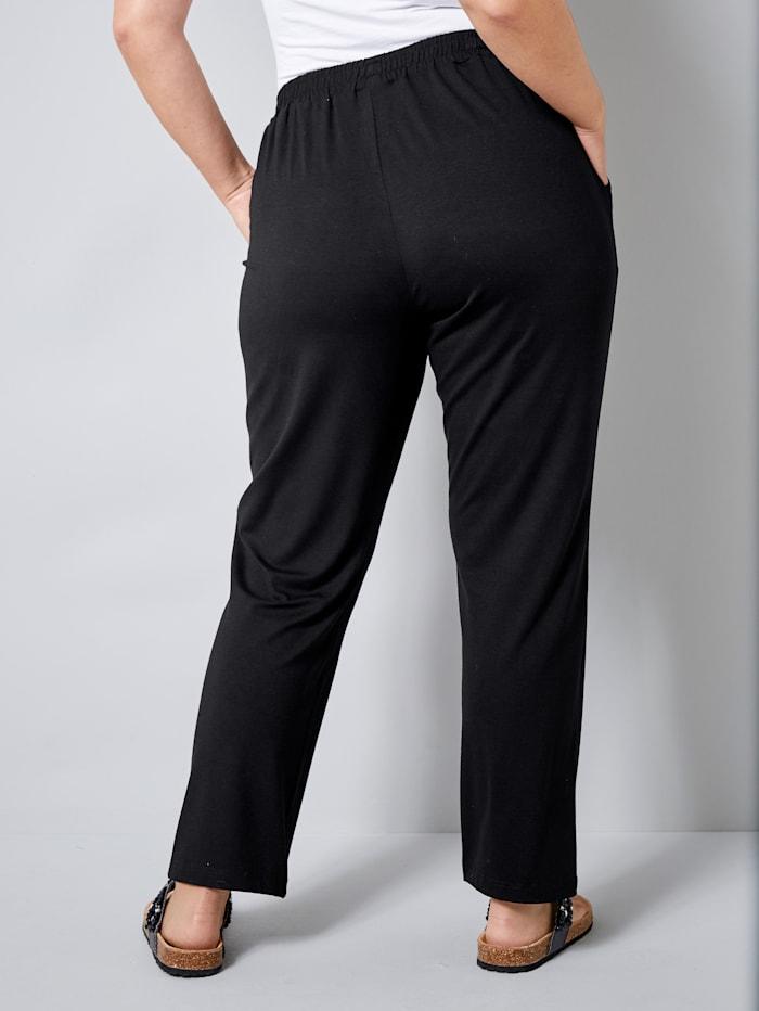 Jersey broek met elastische band