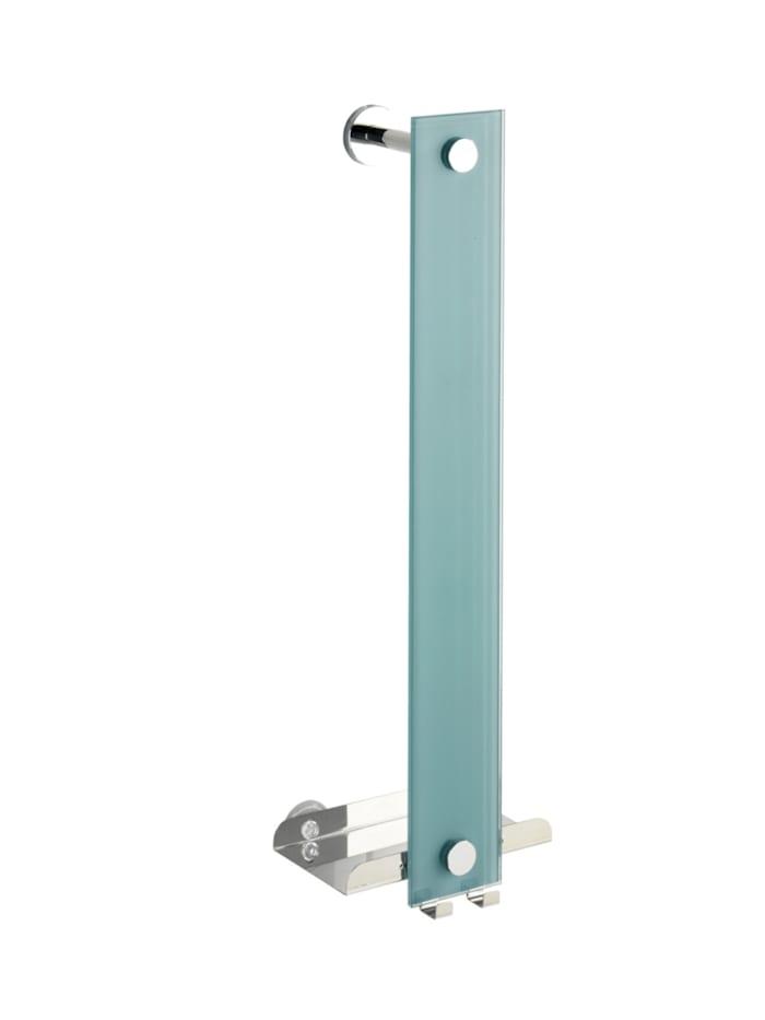 Wenko Power-Loc® Handtuchhalter Era, Glas, Befestigen ohne bohren, Glänzend, Grau